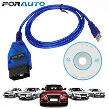 CH340 çip USB teşhis kablosu tarayıcı Vag Com 409Com tarama aracı arayüzü VAG COM 409.1 OBD2 VW Audi Seat Volkswagen Skoda