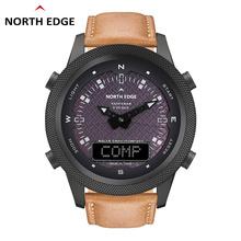Outdoor sports inteligentny wodoodporny zegarek do ładowania słonecznego krok kompas wielofunkcyjny zegarek z podwójnym wyświetlaczem tanie tanio Uspokajanie EVOQUE CN (pochodzenie) Mechaniczne ROUND clear Brak Na nadgarstek Zgodna ze wszystkimi 128MB z metali szlachetnych