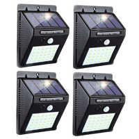 Ha Condotto La Lampada Solare Pir Sensore di Movimento Impermeabile Lampade Escursione E Campeggio Luce La Decorazione Del Giardino Luci per Strade Senza Fili di Sicurezza Lampada da Parete