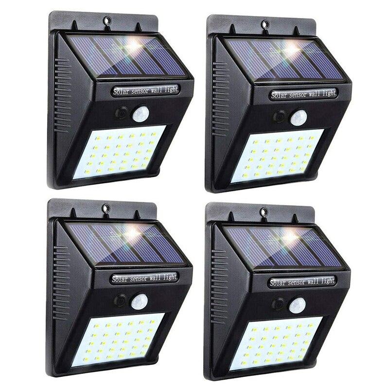 LED الشمسية مصباح PIR محس حركة مقاوم للماء في الهواء الطلق إضاءة للتزيين مصباح حديقة أضواء الشوارع الأمن اللاسلكية الجدار مصباح