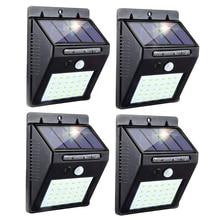 LED Solar Lamp PIR Motion Sensor Waterproof Outdoor Lighting Decoration Garden Light Street Lights Security Wireless Wall Lamp