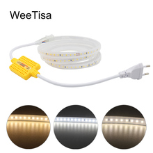 Dimmable LED Strip 220V SMD 2835 Waterproof Super Bright 1M 5M 10M 15M 20M 25M 30M Tape Stripe Light Outdoor Garden Lamp