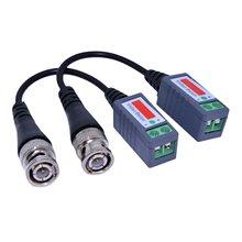 10 пар 20 шт./лот витая Видео балун пассивные трансивера 3000FT расстояние незащищенная витая пара, симметричный трансформатор BNC кабель Cat5 CCTV видео-переходник LFX-ING