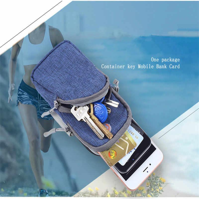 Dla 6.5 cal uchwyt na ramię dla telefonów komórkowych pasek uchwyt na rękę przypadku siłowni sportowe do biegania na świeżym powietrzu etui opaska na ramię torba dla iphone max 7 plus 8 xiaomi