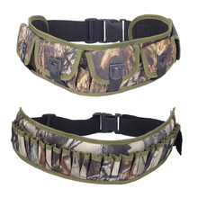 Tactical 28 Round Gun Shell Holder Bandolier Belt Combat Hunting Waist Ammo Pouch Adjustable Buckle Strap