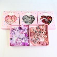 Handmade Dog Hair Bows Clips Hair Accessories Set Box Cute Pet  Cat Dogs Bowknot Rubber Band Crown Hairpin 18pcs/set