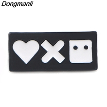 P3932 Dongmanli Love and Robots Metal Enamel Pins Brooches for Lapel Pin Backpack Bags Badge Funny Gifts