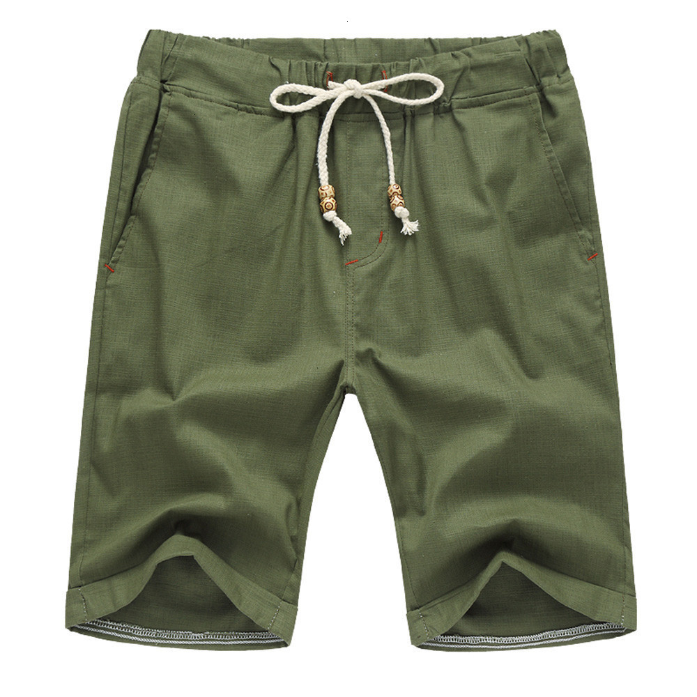 Camouflage Camo Cargo Shorts Men Summer Linen Cotton Solid Beach Casual Elastic Waist Classic Fit Shorts Short Homme Fitness