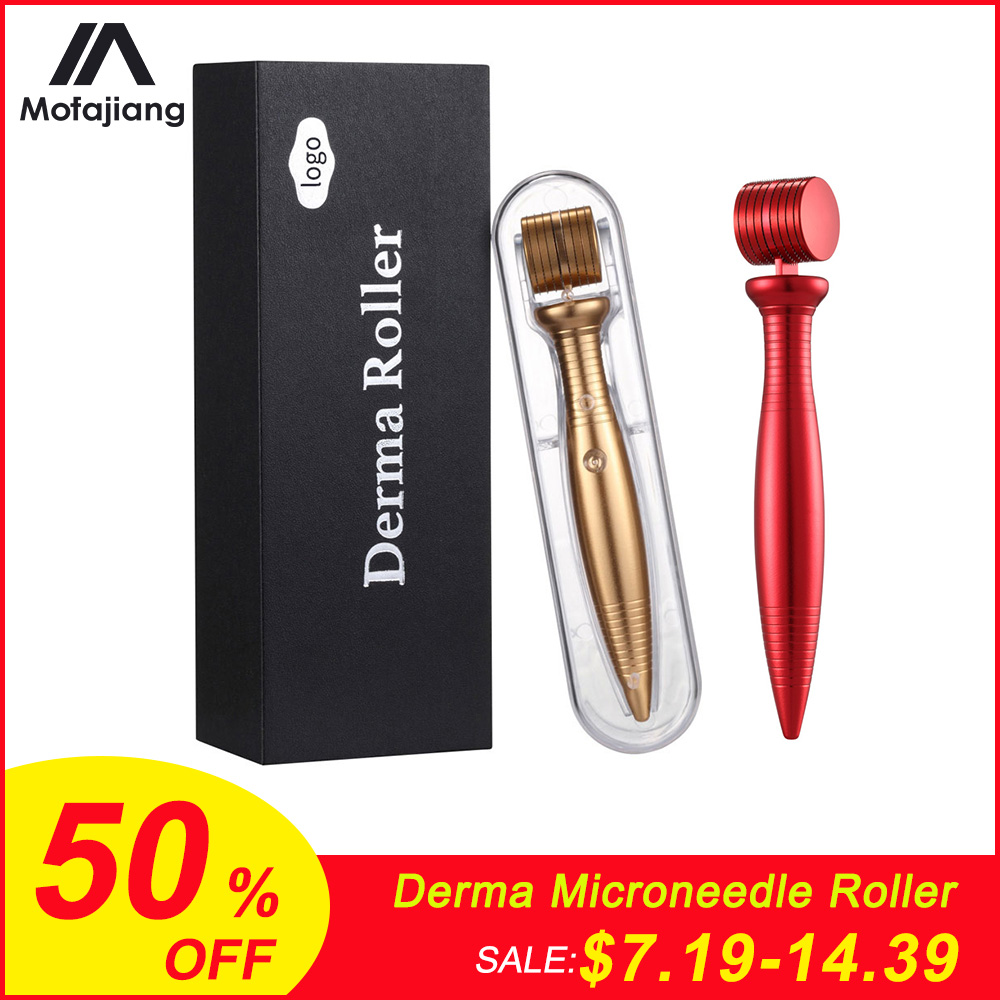 Micro Needles Titanium Derma Microneedle Roller Cosmetic Needling Instrument For Face Micro Needle Microdermabrasion Roller