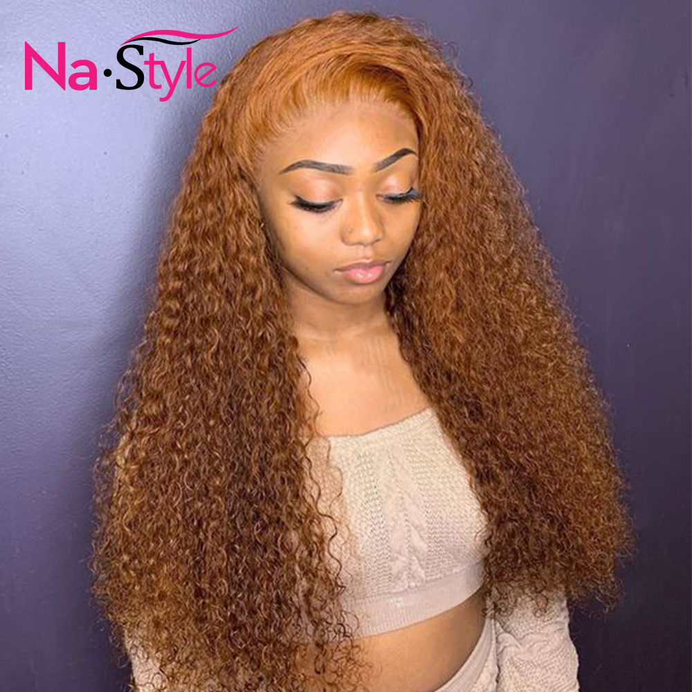 Orange Colored Human Hair Wigs For Women Pre Plucked Lace Frontal Wig With Baby Hair Glueless 13x6 Free Part Can Do 360 Bun Remy