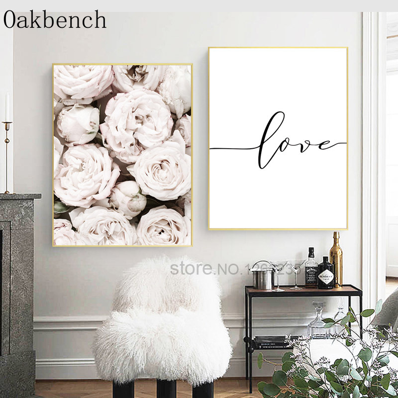 Gorgeous Flowers Canvas Poster Unframed Picture Wall Hangings Home Art Decor