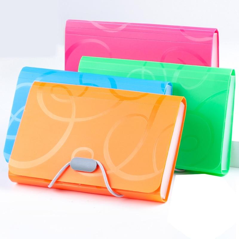 Plastic Drawstring A4 Document Organiser Expanding Folder File With 13 Pocket US
