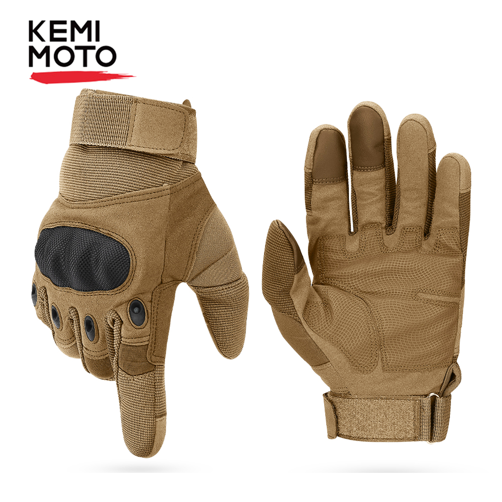 KEMIMOTO Tactical Gloves Motorcycle Gloves Hard Knuckle Full Finger Protective Gear Racing Biker Riding Motorbike Moto Motocross