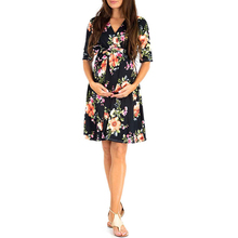 V Neck Half Sleeve Womens Maternity Elegant Dress Overlay Pregnant Photography for Take Part Wedding