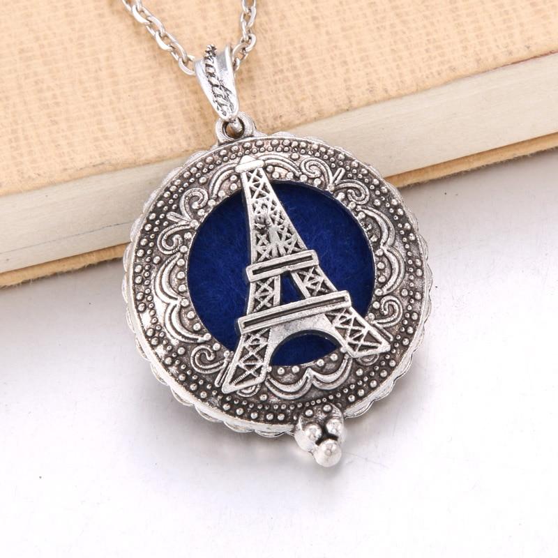 1 шт. аромадиффузор ожерелье Открытый Античный винтажный медальон кулон парфюм эфирное масло ароматерапия медальон ожерелье с подушечками - Окраска металла: N2242