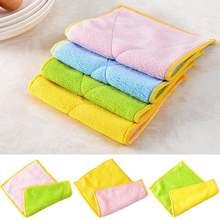 3 шт Анти смазка кухонное полотенце из бамбукового волокна цветочного