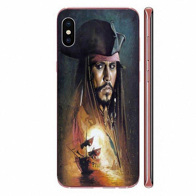 Pour Xiaomi Mi A1 A2 A3 CC9 CC9E 9T mi10 mi9 mi8 pro lite SE peau douce peinture caraïbes Jack Sparrow Pirate Johnny
