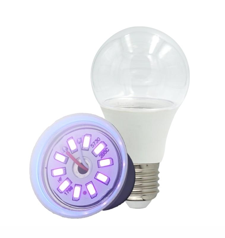 E27 UVC Ultraviolet UV Light Tube Bulb Disinfection Lamp Ozone Sterilization Mites Lights Germicidal Lamp Bulb AC110V 220V 5W 7W