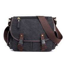 Mens handbag canvas shoulder bag Messenger bag men fashion tide bag casual Korean style of laptop leisure bag crossbody bags
