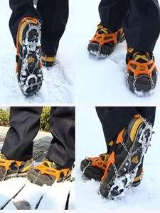 Cleats-Chain Crampon Climbing-Shoes Ice-Gripper Hiking Winter 13-Teeth 1-Pair Buty Raki