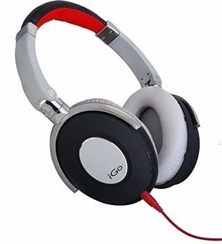 IGo 02-9007-00 - Auriculares de diadema abiertos, rojo, blanco (Reacondicionado Certificado)