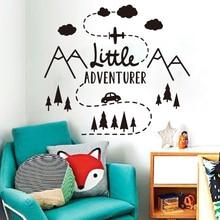 Little Adventure Mountain Car Plane Wall Sticker Nursery Kids Room Travel Adventure Explore Wall Decal Bedroom Vinyl Home LW282 murray w key words 12b mountain adventure