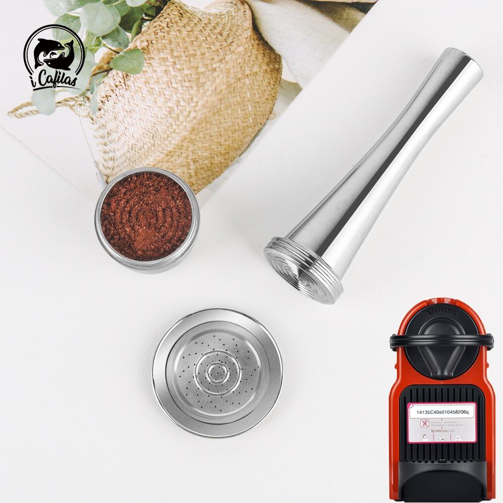 Rvs Capsule Herbruikbare Cups Filter Pods Capsulas Voor Nespresso Reutilizables Capsule Cafe Cups Voor Nesspreso Cafetera