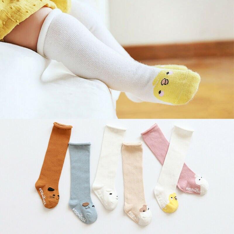 Fashion Toddler Kid Baby Girl Knee High Cotton Long Socks Warm Casual Stockings