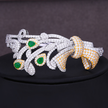 GODKI Nigerian Dubai Bridal Wedding Luxury 4 PCS Jewelry Set Necklace Dangle Earrings Bracelet Resizable Ring Bridal Wedding Set 4