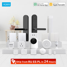 Xiaomi Centro aqara Smart Home kits Gateway3 interruptor de pared inalámbrico puerta ventana Sensor de cuerpo módulo de relé inalámbrico HomeKit(China)