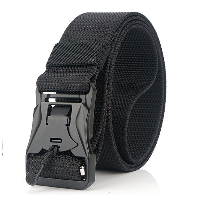 Military Tactical Nylon Belt Magnetic Buckle Zinc Alloy Outdoor Oxford Cloth Free Adjustment Belt Fashion Multi-purpose Belt New