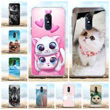 For Alcatel 3 Phone Case Ultra Slim Soft TPU Silicone 5052D Cover Scenery Patterned Bumper Shell