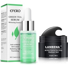 EFERO Anti Aging Green Tea Face Serum Whitening Essence Moisturizing Hydrating Nourishing Shrink Pores Oil Control