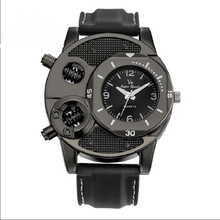casual sports watches for men blue top brand luxury leather men's wrist fashion chronograph c20