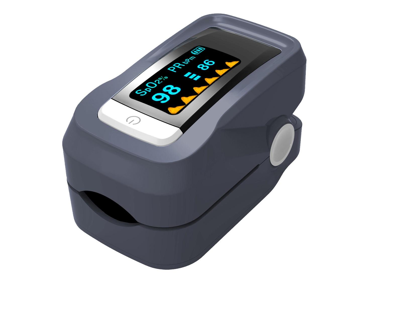 Finger Clip Oximeter Heart Rate Monitoring Blood Oxygen Saturation Monitor Oxygen Meter Sensor Pressure Health Care Fitness