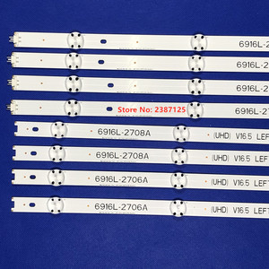 Image 2 - 8PCS LED Backlight Strip for 49inch TV LG 49UH603V 49UH620V LC490DGE 6916L 2705A 6916L 2706A 6916L 2707A 6916L 2708A 49LJ510T