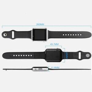 Image 3 - Montre Bracelet Bluetooth montre intelligente Sport podomètre Bracelet avec caméra SIM montre intelligente hommes femme pour Smartphone Android A1 1eh