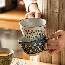 310 мл японский Винтаж Керамика ручка кружки чашки для завтрака