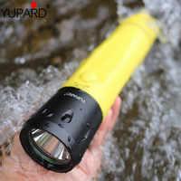 YUPARD 80 м подводный свет встроенный аккумулятор профессиональный фонарь для дайвинга светодиодный фонарик xm l2 зарядка светодиодные фонари