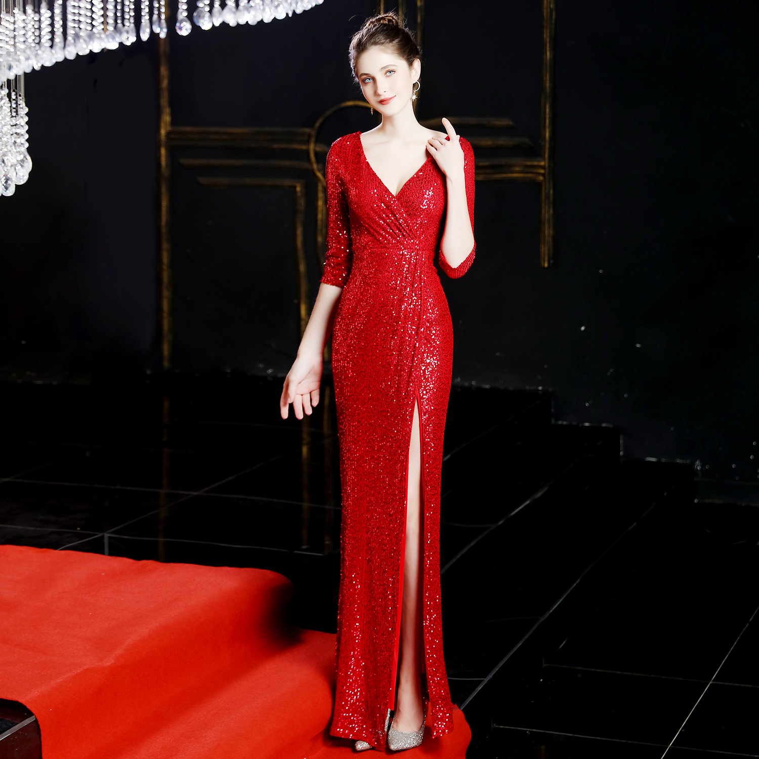 Image 3 - New Long Dresses Evening Formal Dresses Evening Gown Evening 