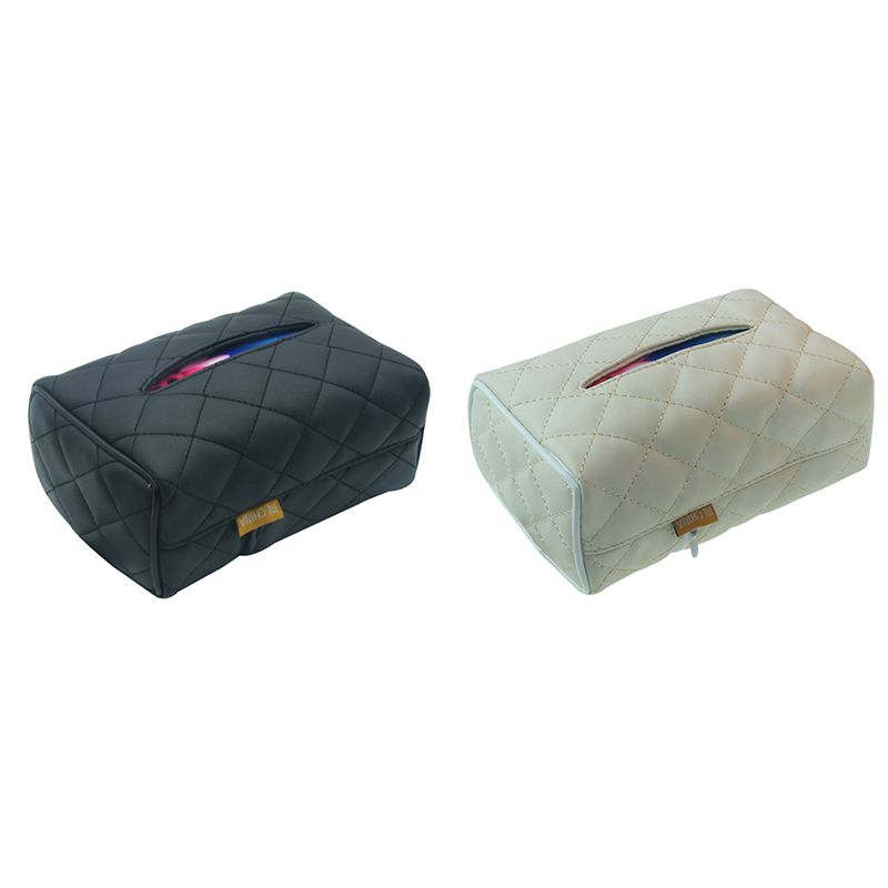 New  Rectangular Leather Facial Tissue Box Napkin Holder For Car Automotive Decoration Vehicle Mounted Tissue Box
