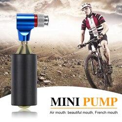 จักรยานอเมริกันประเภทปาก Inflatable Air ปั๊มอลูมิเนียมแบบพกพามินิจักรยานยาง Inflator สำหรับจักรยานยาง