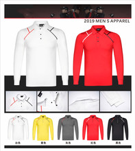 Q2019 golf apparel mens spring and autumn long-sleeved T-shirt quick-drying breathable