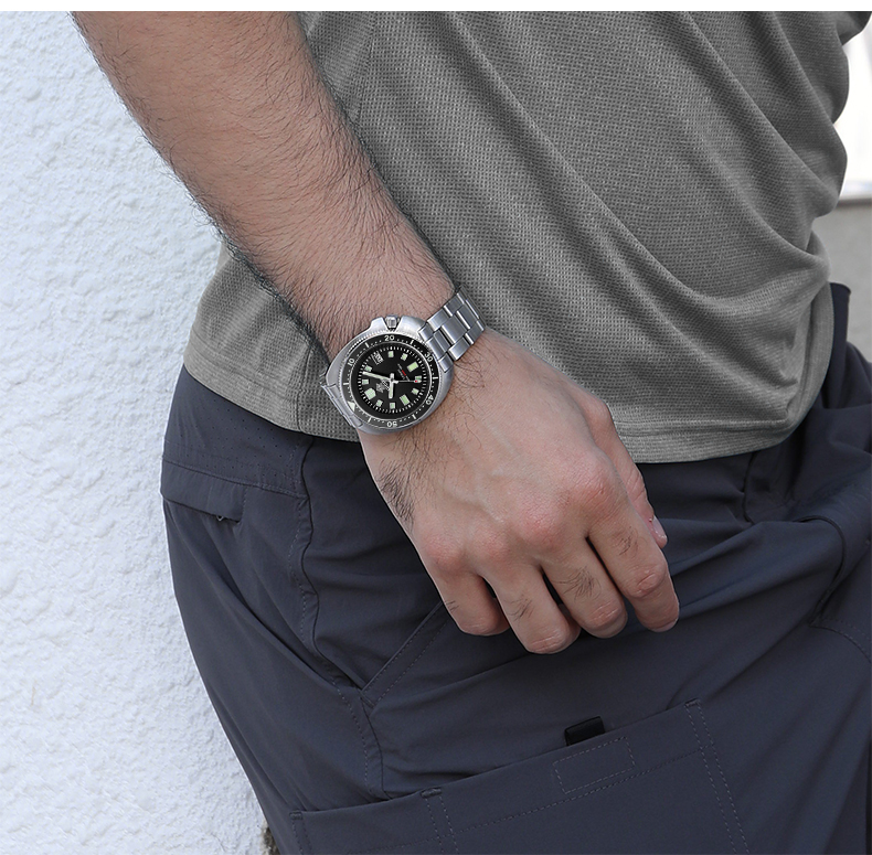 H6d30b9a54bd44297b542de087bab7bedC 1970 Abalone 200m Diver Watch Sapphire crystal calendar NH35 Automatic Mechanical Steel diving Men's watch