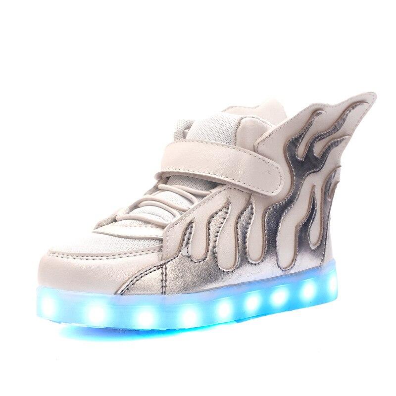 tamanho 25 37 tenis para criancas sapatos luminosos tenis led para meninos e meninas krasovki com