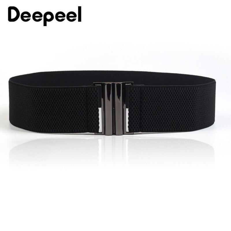 Deepeel 1pc 5cm*60-80cm Womens Wide Elastic Cummerbund Fashion Corset Belt Female Dress Down Jacket Accessories Girdle YK729