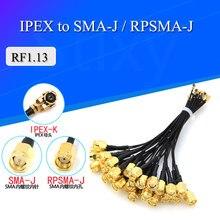 Кабель преобразователя антенны U.FL/IPX в SMA штекер RF1.13 ОТРЕЗОК кабеля SMA штекер в IPEX антенна, WiFi кабель