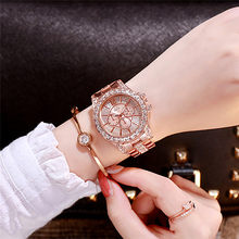 Wanita Tren Mewah Watch Besi Tahan Karat Tri Warna Berlian Kuarsa Bisnis Ladies Fashion High End Jam Zegarki Damskie(China)