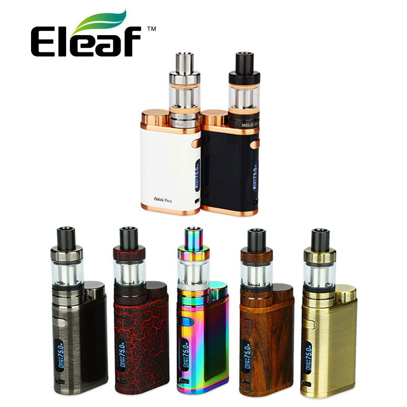 Original Eleaf IStick Pico 75W Kit New Colors With Eleaf MELO 3 Mini Tank 2ml VW/Bypass/TC/TCR Mode E-cig Vape Kit Istick 75W