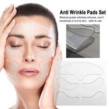 Patch anti-rides en silicone réutilisable, ensemble de nécessaire pour soins anti-age pour la peau, le front et le cou,